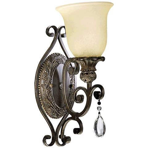 "Quorum Fulton 15"" High Classic Bronze 1-Light Wall Sconce"
