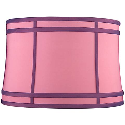 Pink Purple Colorblock Drum Lamp Shade 15x16x11 (Spider)