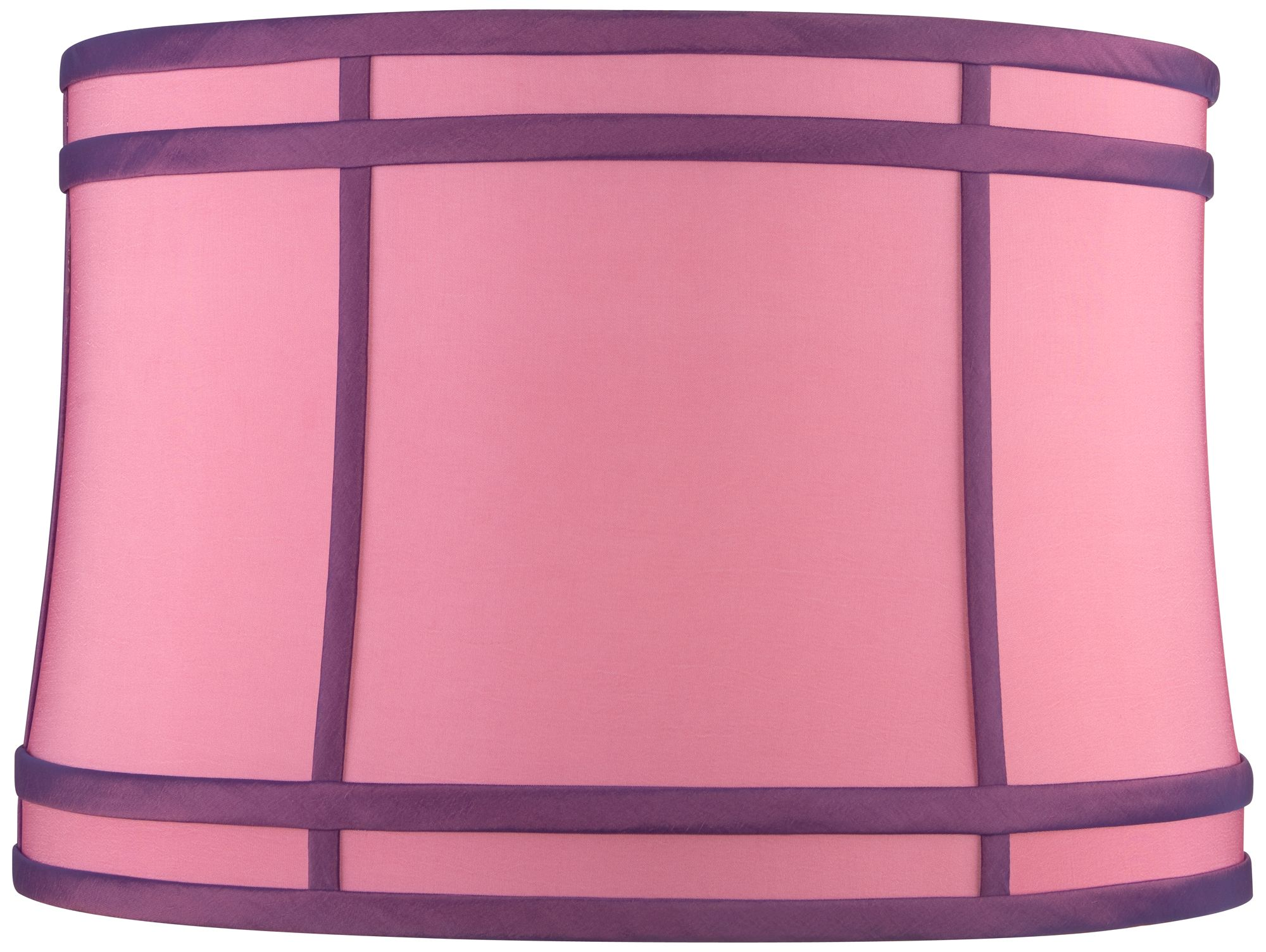 pink purple colorblock drum lamp shade 15x16x11 spider - Drum Lamp Shades