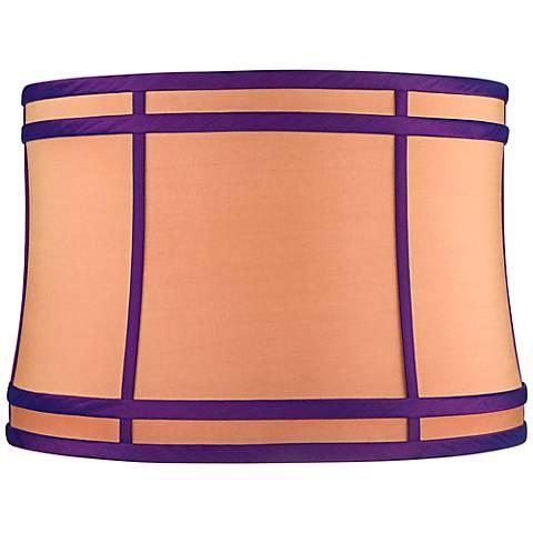 Orange Purple Colorblock Lamp Shade 15x16x11 (Spider)