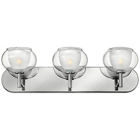 "Hinkley Katia Collection 24"" Wide Chrome Bathroom Light"