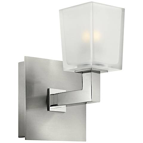 """Hinkley Zina 7 1/2"""" High Brushed Nickel Wall Sconce"""