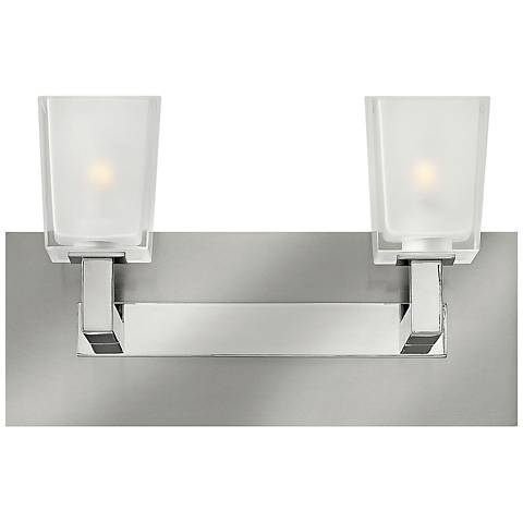 "Hinkley Zina 13"" Wide Brushed Nickel Bathroom Light"