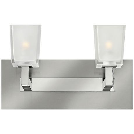 zina 13 wide brushed nickel bathroom light 2y749 lamps plus. Black Bedroom Furniture Sets. Home Design Ideas