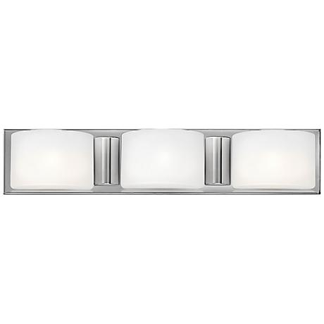 "Hinkley Daria 24"" Wide Etched Opal Bathroom Light"