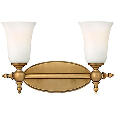 Hinkley Yorktown 15 1 2 Wide Brushed Bronze Bathroom Light 2y767 Lamps Plus