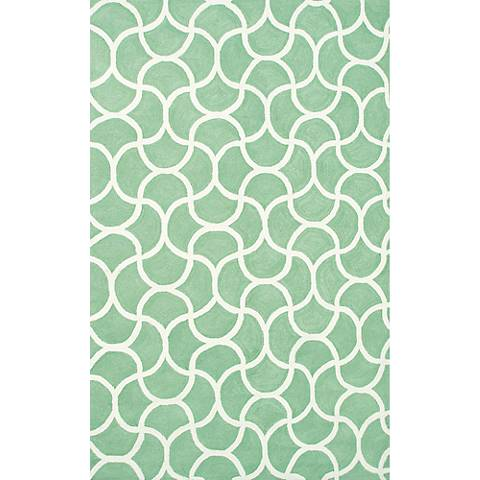 Resort Mermaid 25432 Green Indoor/Outdoor Rug