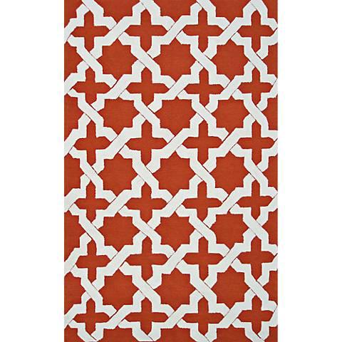 Resort Escher 25466 Orange Indoor-Outdoor Area Rug