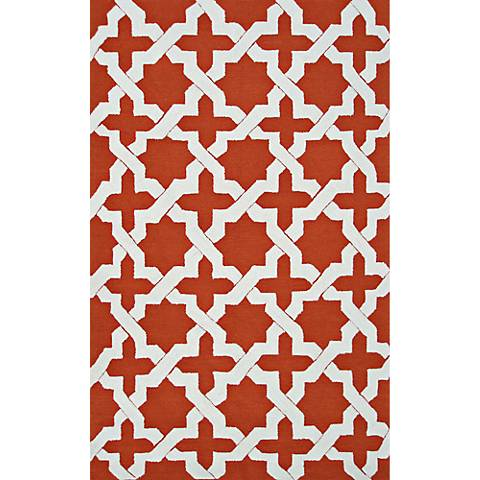 Resort Escher 25466 Orange Indoor-Outdoor Area Rug