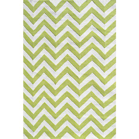 Resort Chevron 25607 Lime Indoor/Outdoor Area Rug