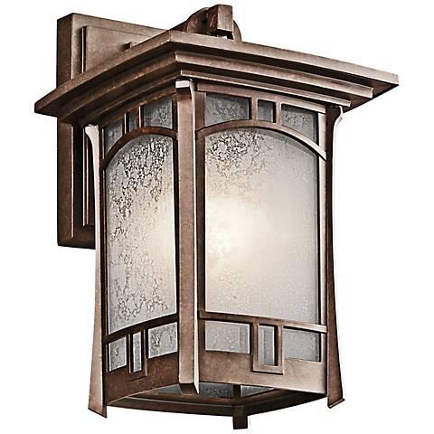"Kichler Soria 11 3/4"" High Bronze Outdoor Wall Light"