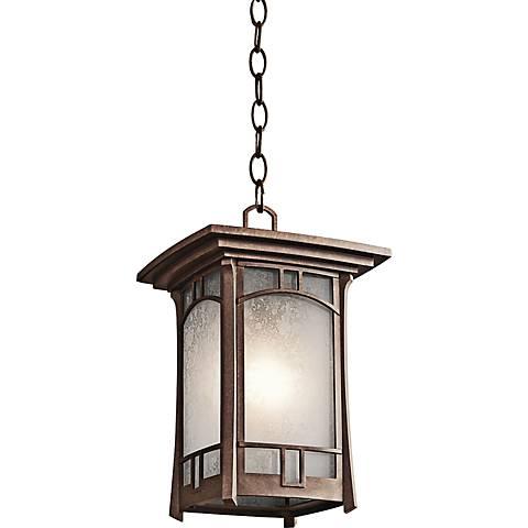 "Kichler Soria Aged 14"" High Bronze Hanging Outdoor Light"