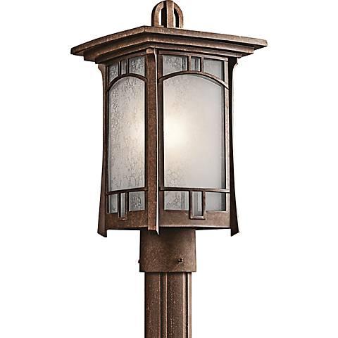 Kichler Soria Aged Bronze Outdoor Post Mount Light