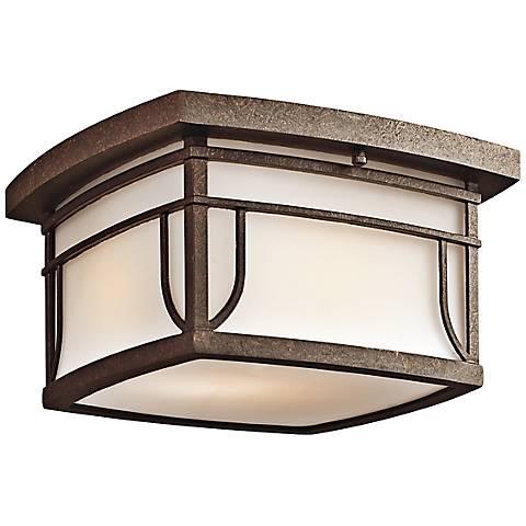 Kichler Soria Aged Bronze Outdoor Ceiling Light
