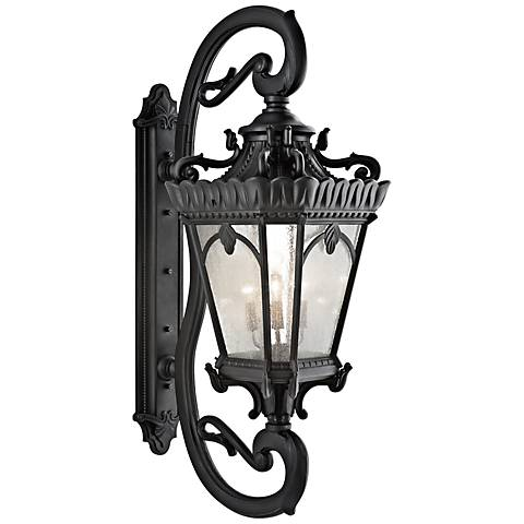"Kichler Tournai 69 1/2"" High Black Outdoor Wall Light"