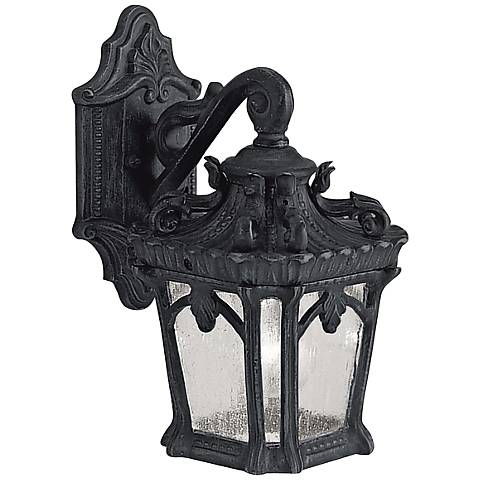 "Kichler Tournai 10 1/2"" High Black Outdoor Wall Light"