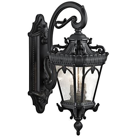 "Kichler Tournai 24"" High Black Outdoor Wall Light"