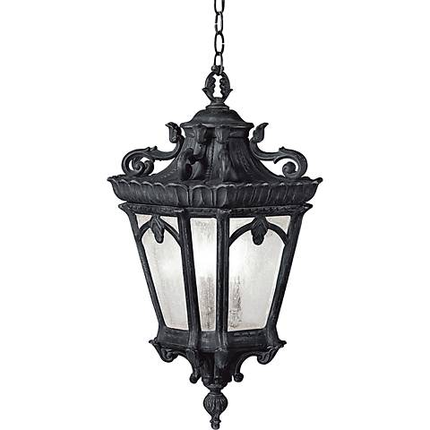 "Kichler Tournai 24 3/4"" High Black Outdoor Hanging Light"