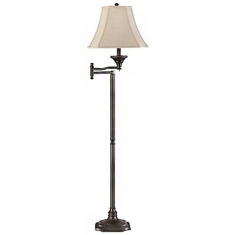Wentworth Swing Arm Bronze Finish Floor Lamp