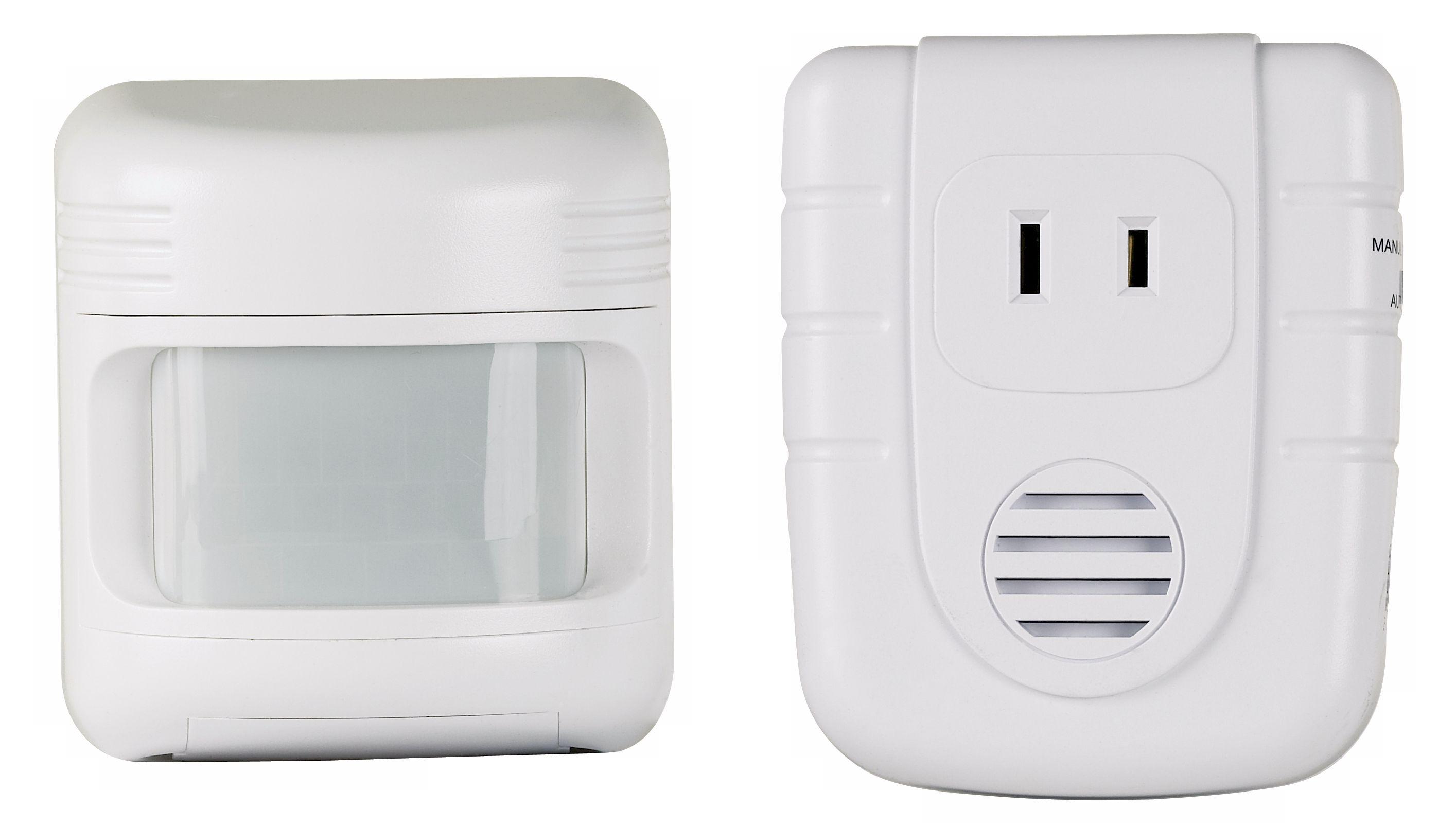 wireless outdoor motion sensor with indoor alert