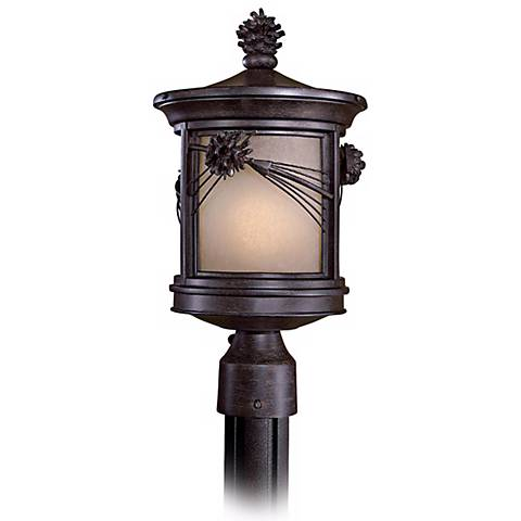 """Abbey Lane 16 1/4"""" High Pine Cone Outdoor Post Light"""