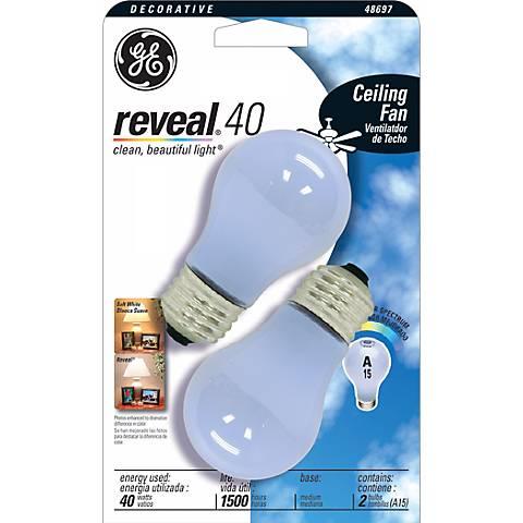 GE 40 Watt White Medium Base 2-Pack Ceiling Fan Bulbs