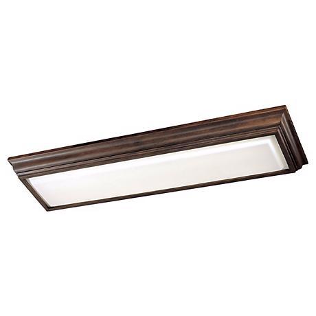 "Minka 53"" Wide Belcaro Walnut Fluorescent Ceiling Light"