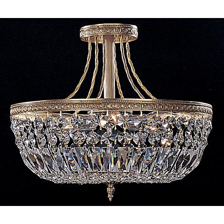 """Majestic Collection Crystal 12"""" Wide Ceiling Light Fixture"""