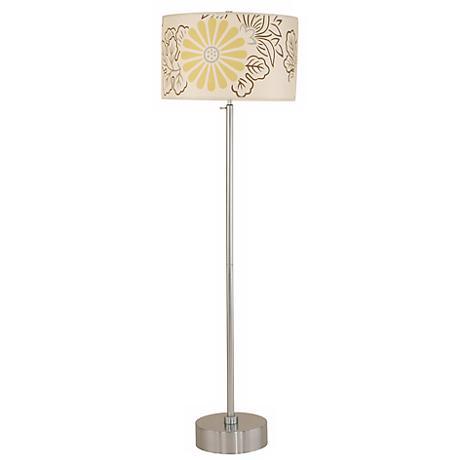 Lights Up! CanCan Kimono Pattern Adjustable Floor Lamp