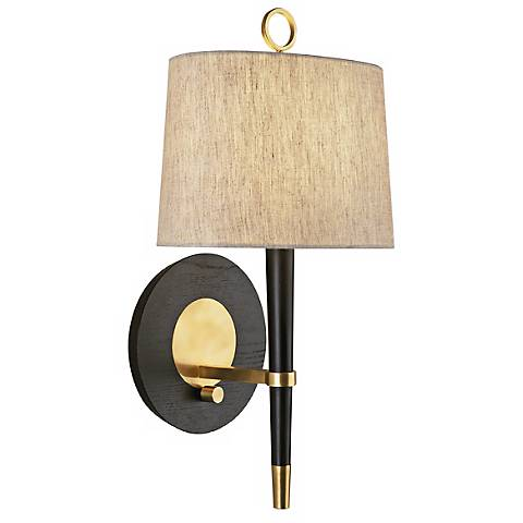 Wall Lamps With Plugs : Jonathan Adler Ventana Brass Plug-In Wall Lamp - #31135 Lamps Plus