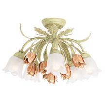 "Parisian Flower Semi-Flushmount 22"" Wide Ceiling Light"