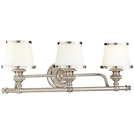 "Hudson Valley Milton 24 3/4""W Polished Nickel Bath Light"