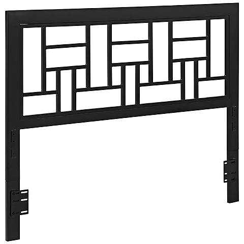 Classica Black Metal Queen Headboard