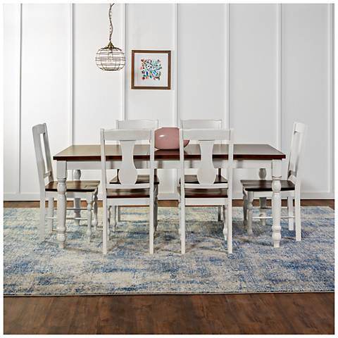 Huntsman Brown and White 7-Piece Dining Table and Chair Set