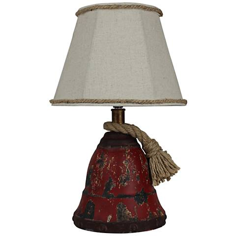 Sailors Call Red Metal Accent Table Lamp