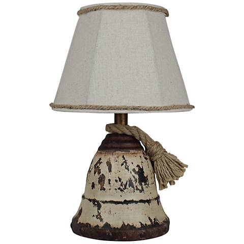 Sailors Call White Metal Accent Table Lamp
