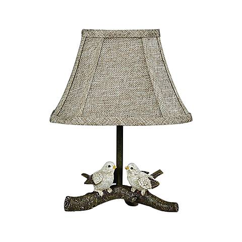 Birds On Branch Paint Accent Table Lamp