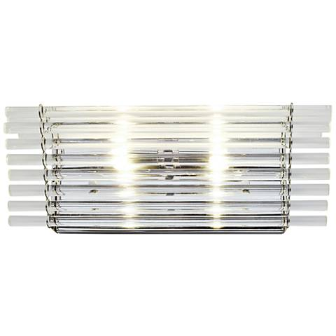 "Empire State 6"" High Polished Stainless Steel Wall Sconce"