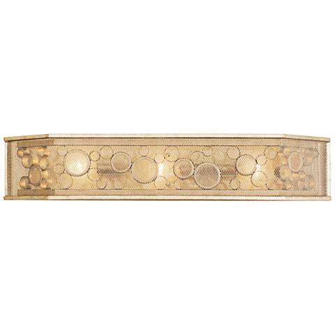 "Varaluz Fascination 31 3/4"" Wide Zen Gold 3-Light Bath Light"
