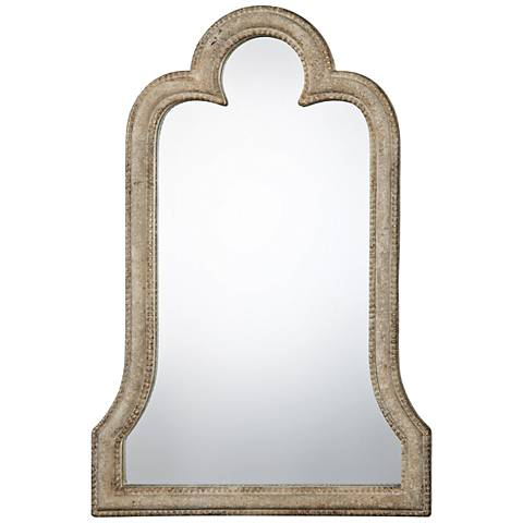 """Uttermost Adilah Aged Ivory 24"""" x 36"""" Arch Wall Mirror"""