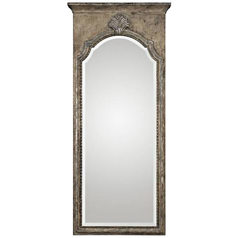 "Uttermost Nevola Antiqued Silver Leaf 32"" x 73"" Wall Mirror"