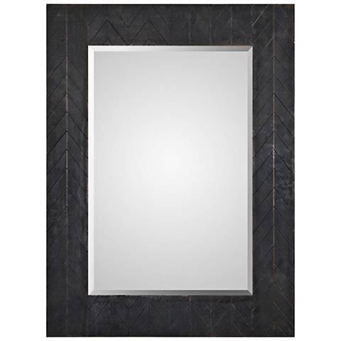 """Caprione Dark Bronze and Copper 35"""" x 47"""" Wall Mirror"""