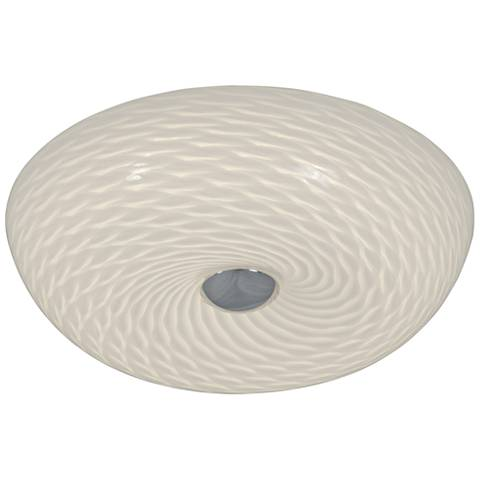 "Varaluz Swirled 12"" Wide French Feather Glass Ceiling Light"