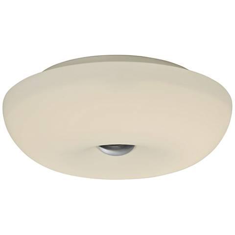 "Varaluz Swirled 12"" Wide White Opal Glass Ceiling Light"