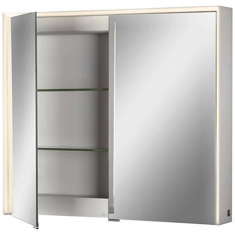 Eurofase Laurent Edge-lit 2-Door LED Mirror Cabinet