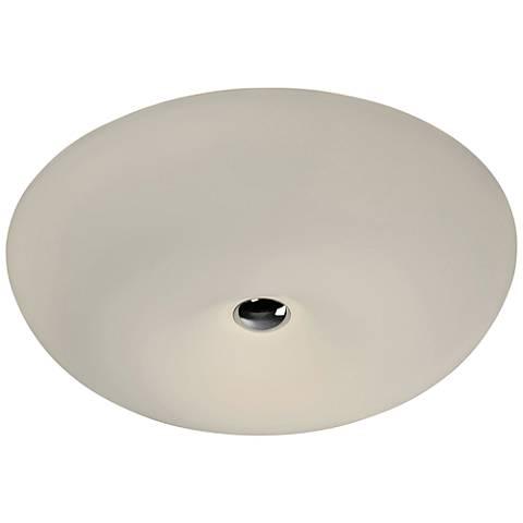 "Varaluz Swirled 18"" Wide White Opal Glass LED Ceiling Light"