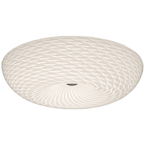 "Varaluz Swirled 18""W French Feather Glass LED Ceiling Light"
