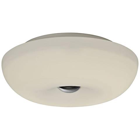 "Varaluz Swirled 12"" Wide White Opal Glass LED Ceiling Light"