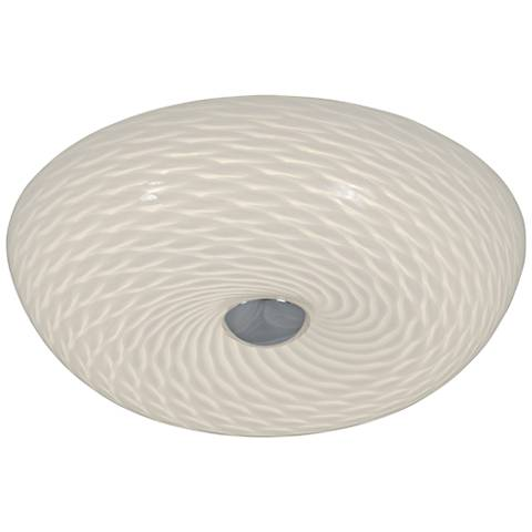 "Varaluz Swirled 12""W French Feather Glass LED Ceiling Light"