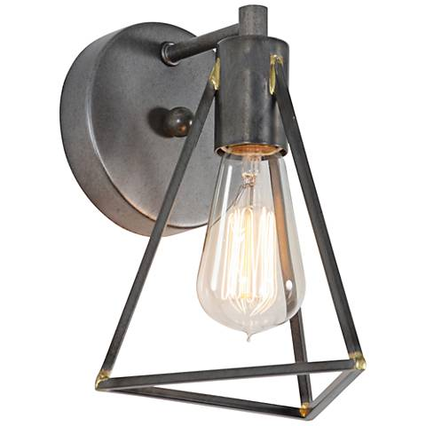 "Varaluz Trini 9"" High Gunsmoke Wall Sconce"
